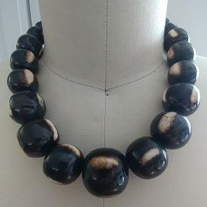 Vintage Bohemian big beads necklace